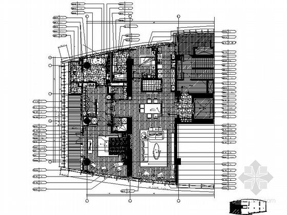 [上海]简约欧式小户型样板间装修CAD施工图(含效果图)