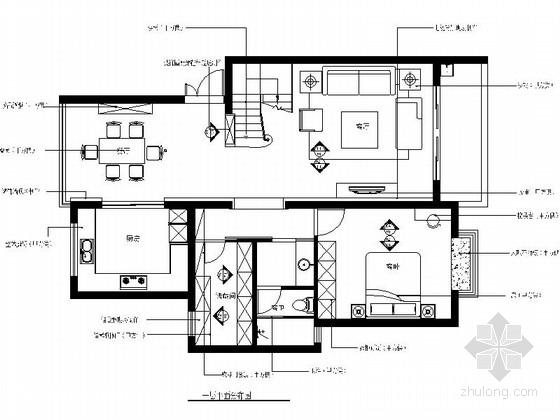 [苏州]名师设计ArtDeco风格三层联体别墅CAD装修施工图(含高清实景图)