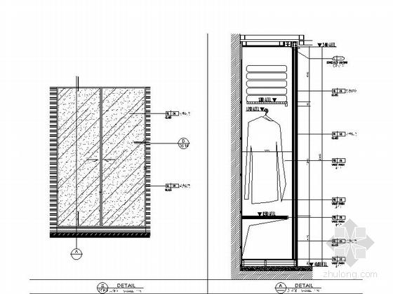 [福建]豪华游艇会所SPA装修设计施工图衣柜大样图