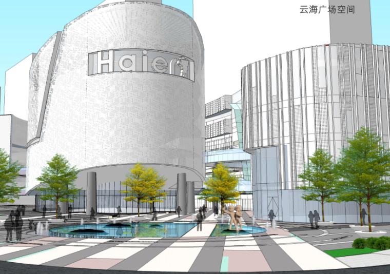 现代商业街两层资料下载-[山东]青岛海尔商业街景观方案文本-AECOM(禅意,含屋顶花园)