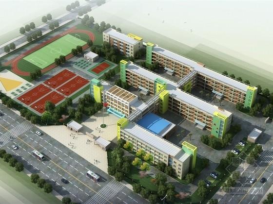 [江苏]现代风格小学校区规划及单体设计方案文本(含CAD)