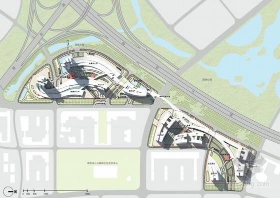 [厦门]超高层立体绿化复合功能城市综合体建筑设计方案文本-超高层立体绿化复合功能城市综合体建筑总平面图