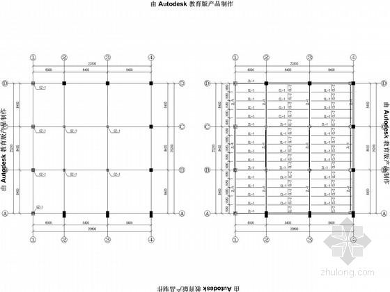 地下广场加层钢结构施工图
