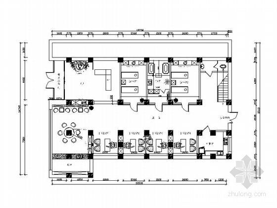 [大连]国内连锁时尚典雅两层美容院室内装修施工图