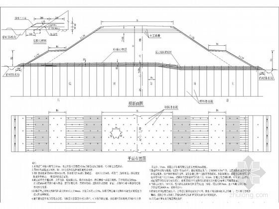 [四川]高速公路塑料排水板处理软弱地基一般设计图