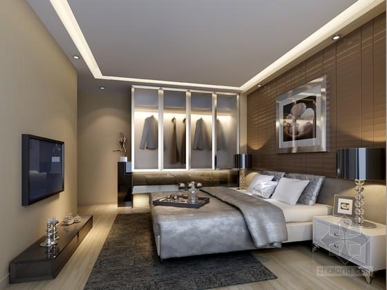 时尚舒适卧室3D模型下载