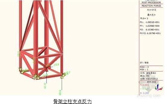 [福建]独塔单索面混合梁斜拉桥劲性骨架受力计算书