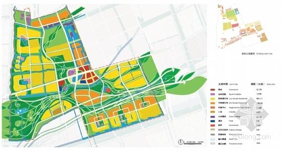 [上海]国际级体育中心景观方案概念规划(著名设计公司)-土地利用规划