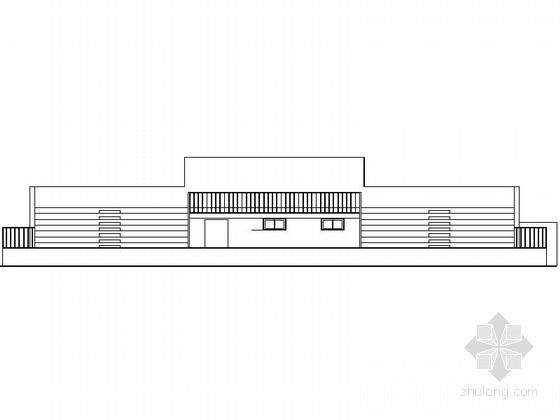 某体育场主席台建筑施工图