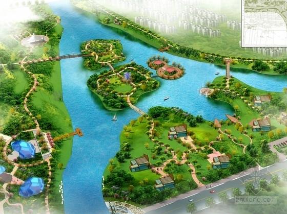 [江苏]城市绿廊型河流绿带景观规划设计方案