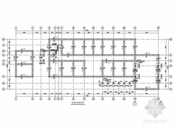 单层砌体结构(局部框架)苗木基地办公楼结构施工图
