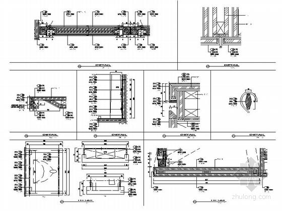 [四川]全球最大酒店客房电梯厅室内装修设计施工图(含方案效果)详图
