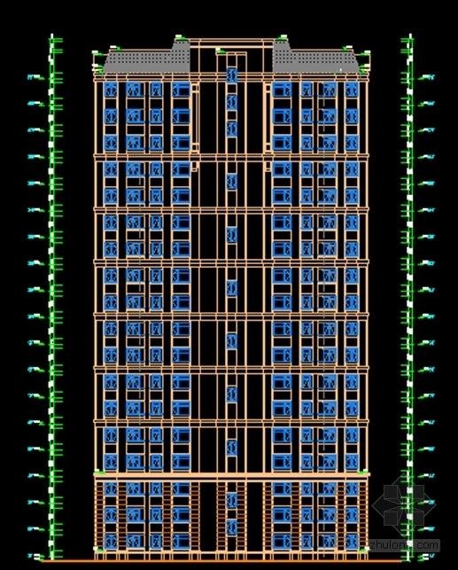 [山东]法式风格中高档住宅小区规划设计方案文本-法式风格中高档住宅小区立面图