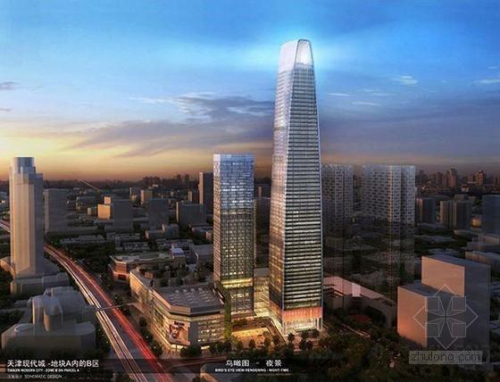 [天津]超高层写字楼及酒店工程施工现场照片