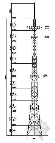 某60米通讯铁塔结构图纸