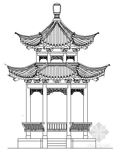 某八角亭建筑施工图