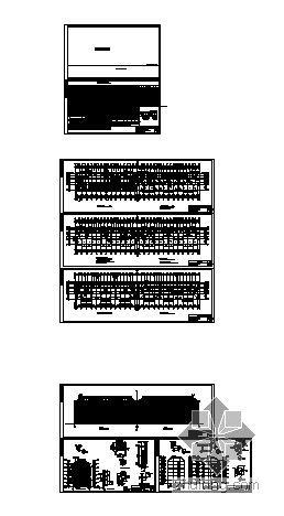 [安徽]某小型住宅小区七幢住宅楼群建筑施工图-4