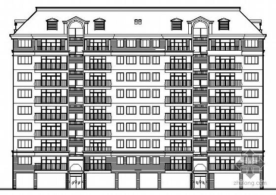 某九层商住楼建筑施工图(带坡顶闷顶)