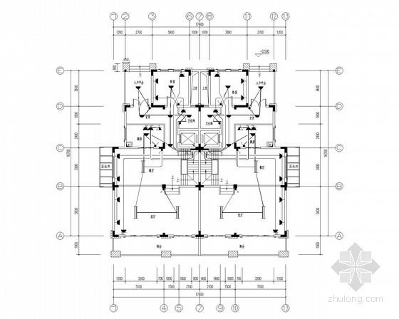 [湖北]最新高档别墅单体户型电气施工图(甲级院)