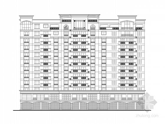 十二层欧式风格商住楼建筑施工图