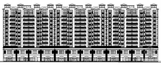 [湘潭市]某国际小区十一层商住楼7栋建筑结构水电施工图
