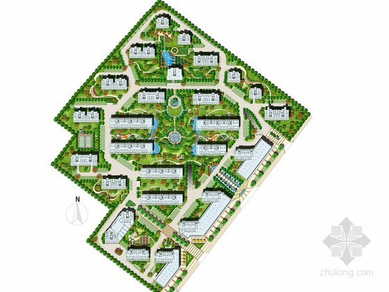 [宁波]现代简约自然风格居住区环境景观方案设计