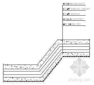降板及后浇带处防水做法