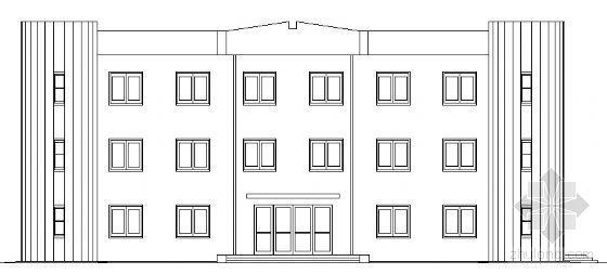 某三层建筑设计院办公楼建筑方案图