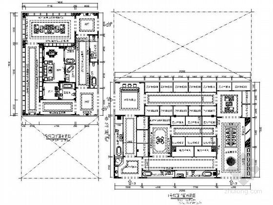 [安徽]某名品牌时尚陶瓷展厅室内装修施工图