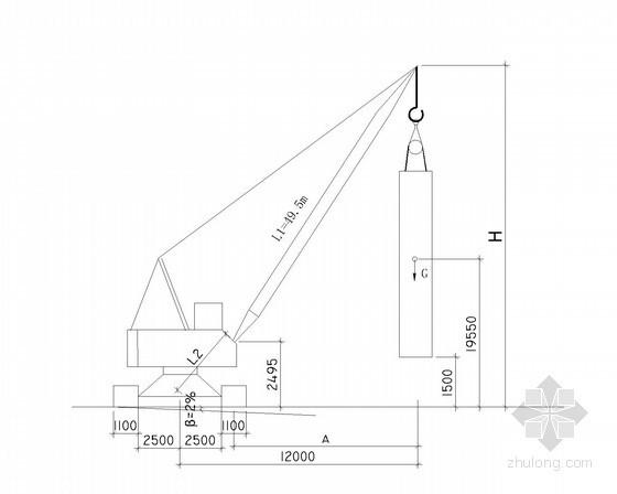 [浙江]35.9t地下连续墙钢筋笼吊装专项施工方案(细部图丰富)-履带吊稳定性验算