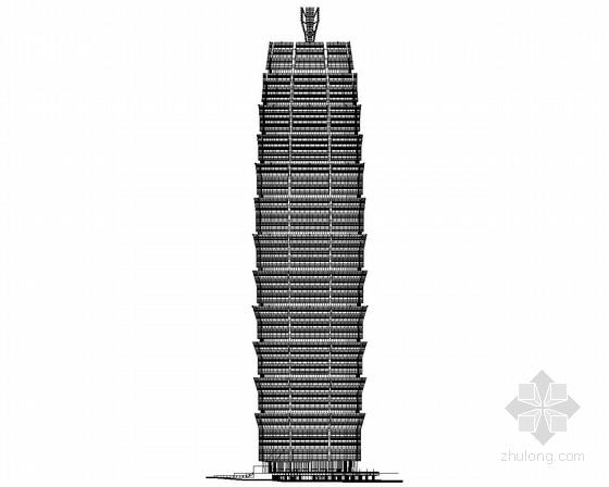 [郑州]某60层商业综合体建筑施工图(280米、知名设计)