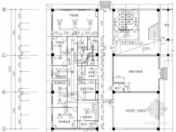 [江西]车间净化空调系统设计施工图(含风量表)