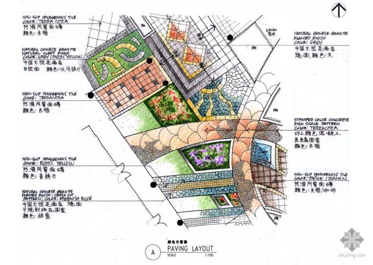 贝尔高林经典手绘景观剖面图14张