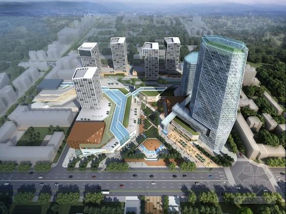 现代综合大厦3D模型下载