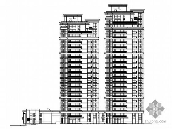 [宁波]某现代花园住宅小区住宅楼群建筑施工图