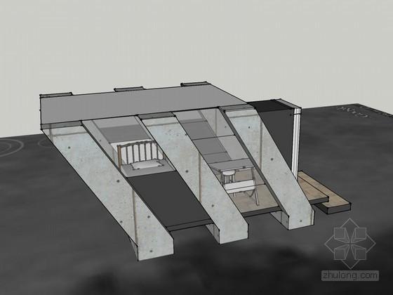 小型住宅SketchUp模型下载
