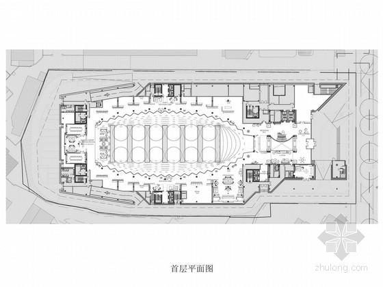 [上海]繁华商业街豪华五星级度假酒店设计方案图