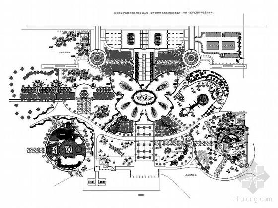 武汉某公园小游园方案设计