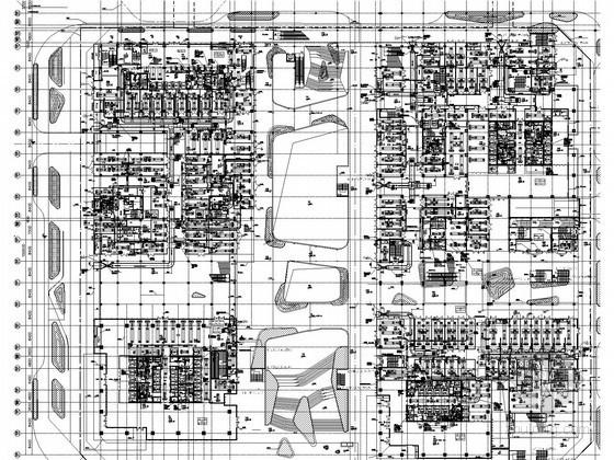 [深圳]超大型商业建筑群暖通空调全套施工图400张(3栋超高层 47万平)