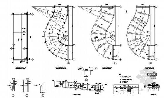 某室内汽车坡道节点构造详图