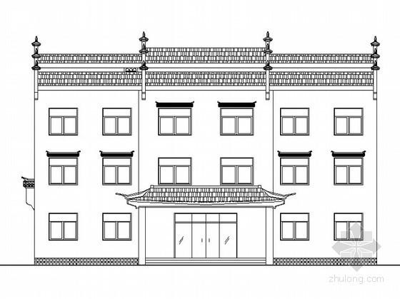 某三层徽派办公楼建筑扩初图(原创)