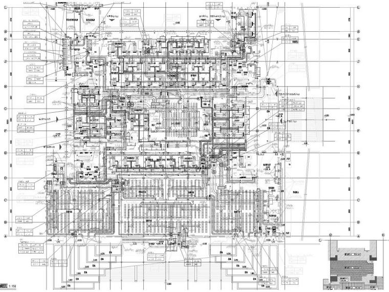[江苏]高等院校图书馆暖通空调全系统设计施工图(人防设计)