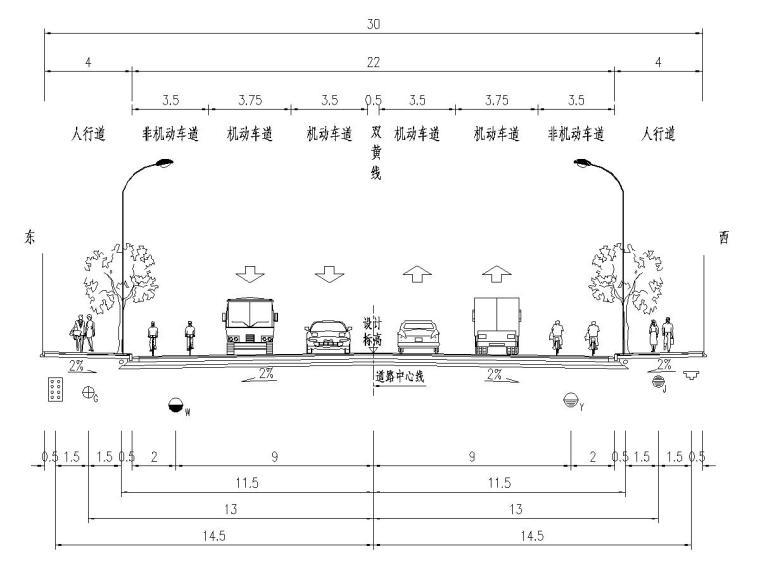 城市次干路道路排水工程施工图设计55张