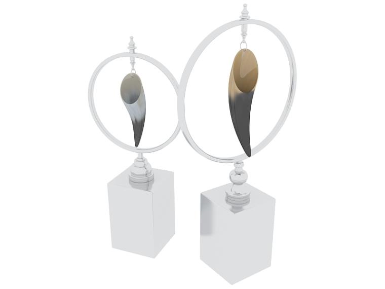 牛角工艺饰品3D模型下载