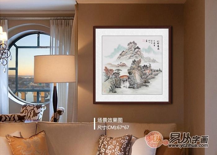 酒店大厅挂什么画,山水画是经典选择