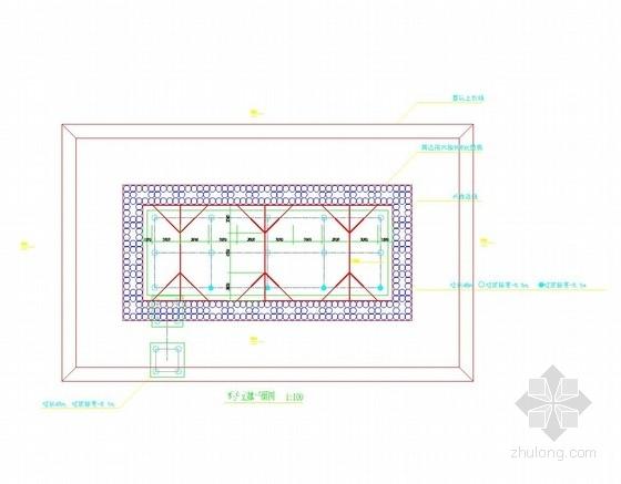 高压旋喷桩墙基坑支护止水施工图