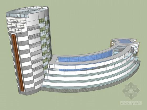 时尚办公建筑SketchUp模型下载