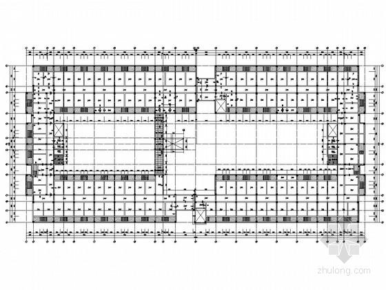 [贵州]七层框架结构师范大学宿舍楼结构施工图(回字形 中间有走廊)
