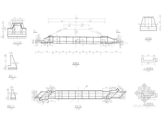 多孔径钢筋混凝土盖板箱涵设计图(4套)