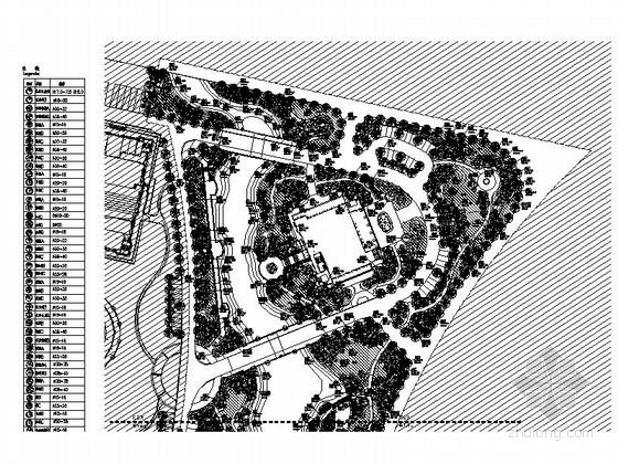 [河南]高档住宅景观区植物设计施工图